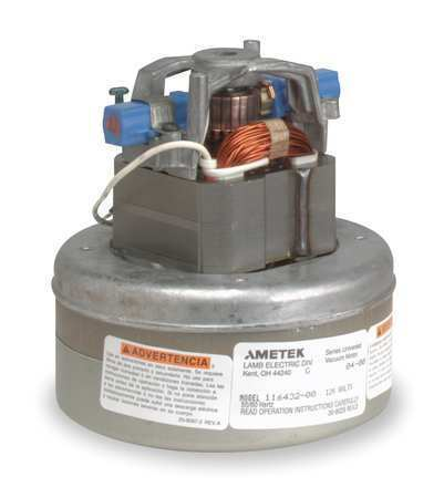 Ametek Lamb 115750 Vacuum Mtr/Blwr,Thru-Flow,2 Stge,1 Spd