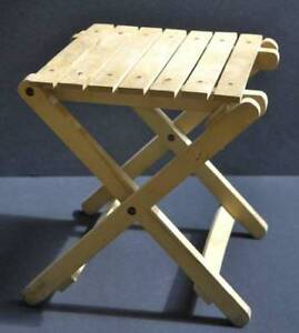 Kids small wood folding stool/table for camping, outdoors