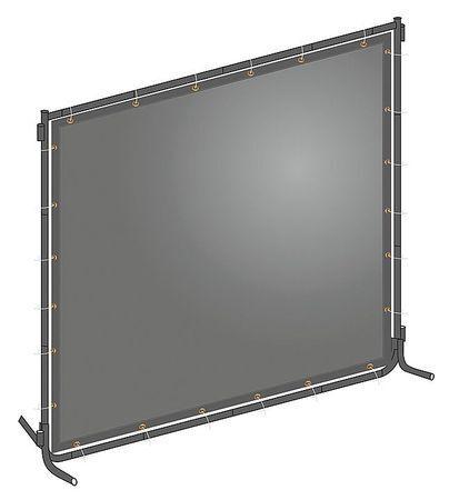 WESTWARD 22RN76 Welding Screen,8 ft. W,6 ft.,Gray