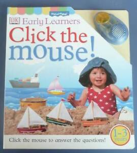 Bundle for kids- Click the Mouse book/Winnie the Pooh plate