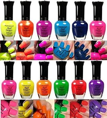 Effect Beauty Neon Lot Nail Polish Full Color Size 12 Pcs Assorted