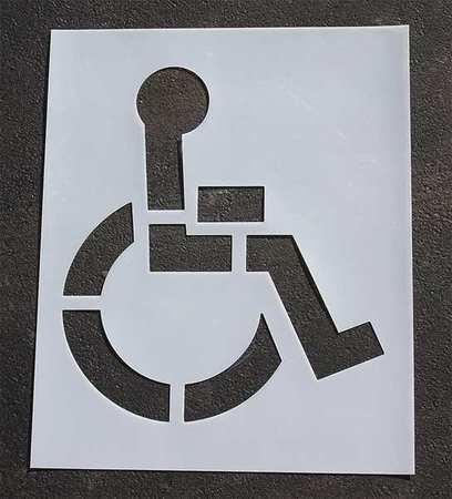 Rae Stl-116-3039 Pavement Stencil,39 In,Handicap,1/16