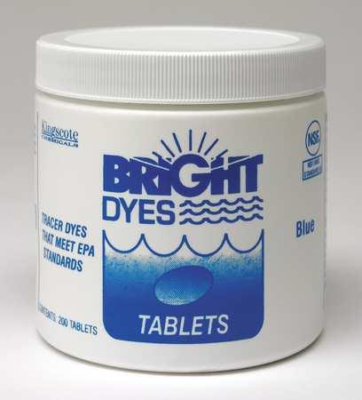 BRIGHT DYES 101105 Dye Tracer Tablet,Fl Blue,PK200