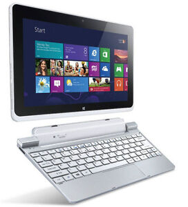 "Acer W510 10"" Tablet Fully Loaded KeyBoard Dock w/ 2nd Battery"