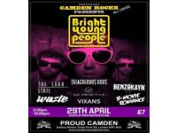 CAMDEN ROCKS ALL-DAYER FEAT BRIGHT YOUNG PEOPLE AND MORE AT PROUD