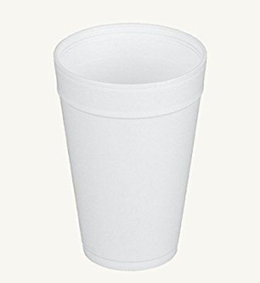 Dart 32TJ32, 32 Oz White Foam Plastic Cups with Vented Lids,