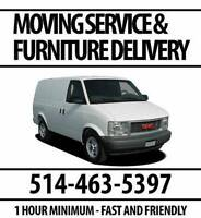 Moving and Furniture Delivery - $40 - 1 Hour Minimum
