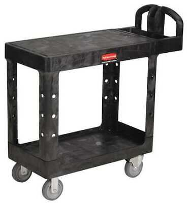 Rubbermaid Fg450500bla Raised Handle Deep Shelf Utility Cart 500 Lb. Capacity