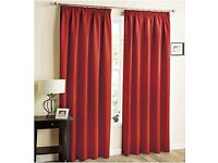 Red blackout curtains