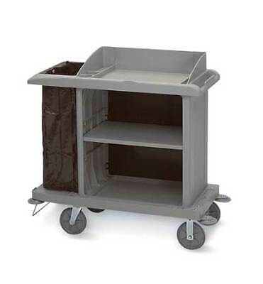 Rubbermaid Fg619000bla Compact Housekeeping Cartblack