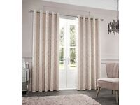 """""""Myles"""" Jacquard fully lined eyelet curtains by Catherine lansfield"""