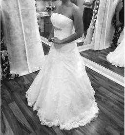 Size 10 Anna Sorano - Adara Ivory Wedding Dress.