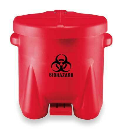 EAGLE 945BIO Biohazard Step On Waste Container