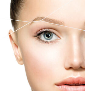 Eyebrow and facial threading for very reasonable prices downtown