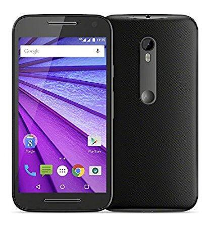 Motorola Moto G 3rd Gen - Smartphone Sim free - Black - with phonecase