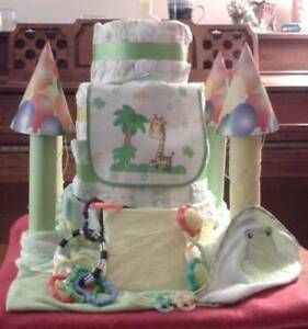 """""""Diaper Castle"""" - 1 of the Baby Shower Gifts I Make & Sell $ 85."""