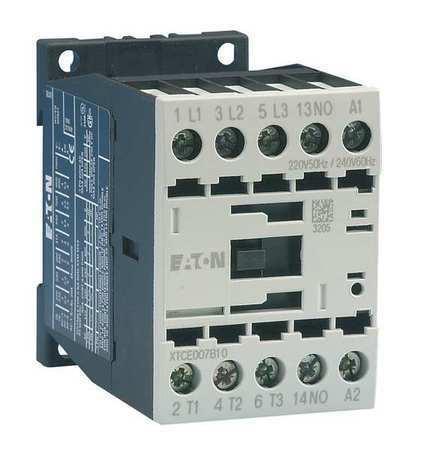 Eaton Xtce007b10td Iec Magnetic Contactor, 3 Poles, 24V Dc, 7 A, Reversing: No