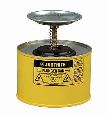 Justrite 10218 Plunger Can12 Gal.steelyellow