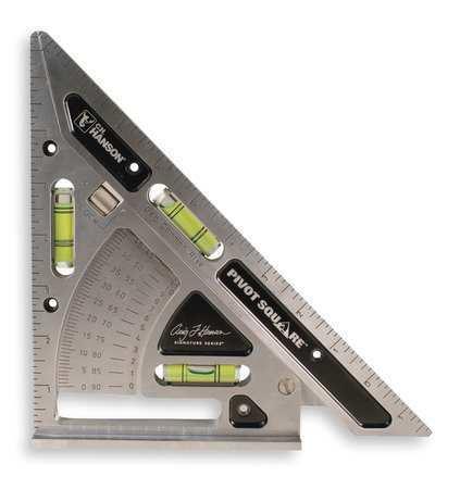 C.H. HANSON 03060 Pivot Square,Aluminum,11 x 8 In,Holster