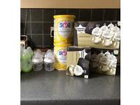 New born baby bundle bAby tommee tippee bottles brand new baby milk sma food milk heater