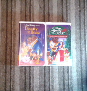 Beauty and the Beast collections Walt Disney movies on VHS