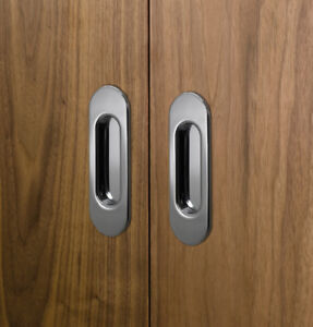 POIGNEES (7x)_(seven) Recessed sliding door handles -NEW Baldwin