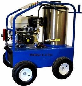 Laveuse haute pression eau chaude commercial  4,000 lbs avec 4 GPM  a prix imbattable / hot water pressure washer