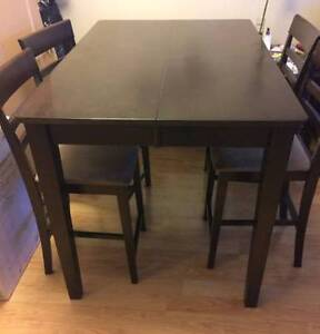 5 piece dining table set : high top