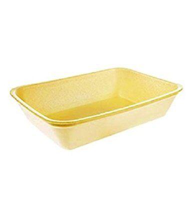 Yellow Foam Meat Tray - CKF 42Y, #42P Yellow Foam Meat Trays, Frozen Food Trays, 100-Piece