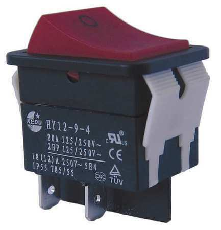 Power First 29Fg26 Rocker Switch, Dpst, 4 Connections