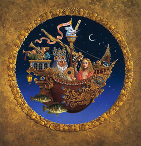 AUTOGRAPHED  Print THE ROYAL MUSIC BARQUE By James Christensen