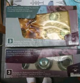Boxed/ unused 2x sets low voltage halogen recessed spotlights Zone 3
