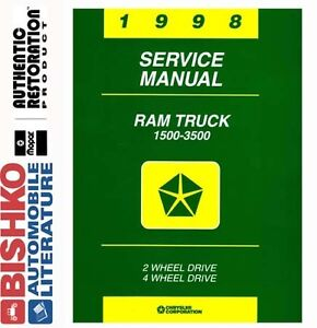 1998 Dodge Ram Truck Mechanic Workshop Service Repair Manual CD Factory OEM