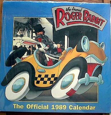 1989 Roger Rabbit Movie Calendar-Disney-MINT SEALED!