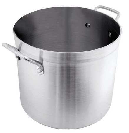 CRESTWARE POT80 Stock Pot,80 qt,Aluminum