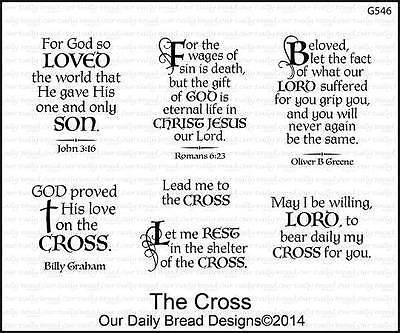 Our Daily Bread Designs Cling Stamp Set The Cross Bible Verses  Inspirational