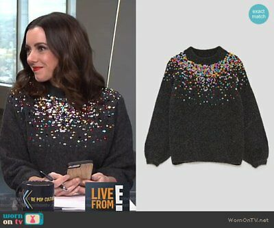 Bnwt Zara Women Sweater With Coloured Sequins Sold Out Rare Blogger Favorit