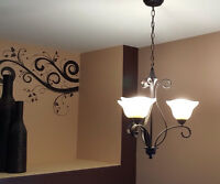 Isadora Oil Rubbed 3-Light Chandelier/Luminaire