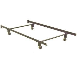Two heavy duty steel bedframes.................