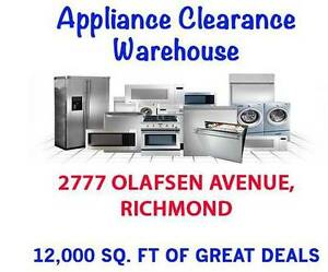 WarehouseClearance Washer and Dryers Fridge & Stove- delivery