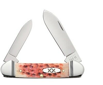 CASE XX KNIVES JIGGED RASPBERRY BONE CANOE KNIFE #27722 USA FREE T-SHIRT