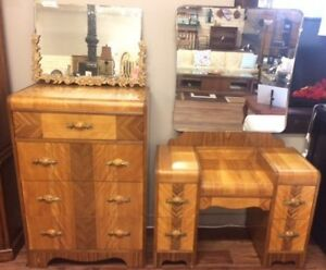 Vintage Waterfall Dresser & Dressing - Make Up Table