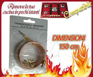 Sonda termocoppia cm 150 universale per forno cucina for Cucina 150 cm