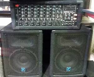 YORKVILLE MP8 Channel Power Mixer with 2 speakers $499