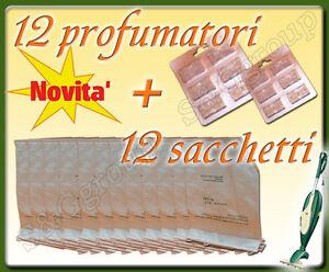 RICAMBI-PER-FOLLETTO-VORWERK-VK-135-VK-136-12-SACCHETTI-E-12-PROFUMI-PROFUMATORI