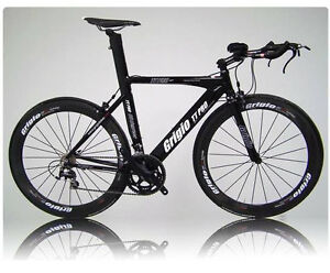 TRIATHLON BIKE  TT-PRO2 BLACK - SHIMANO COMPONENTS AND  WHEELS