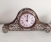 Sterling and Noble Mantle Clock  metal frame