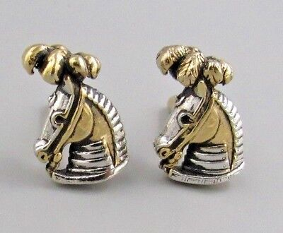 Circus Horse Costume (EXCELLENT Mens Circus Horse CUFFLINKS Costume Vintage Jewelry L)