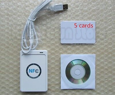 Nfc Acr122u Rfid Contactless Smart Reader Writerusb Sdk Mifare Ic Card