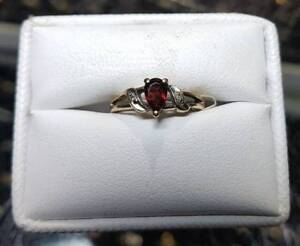 Affordable 14k Gold Ring with red stone $119
